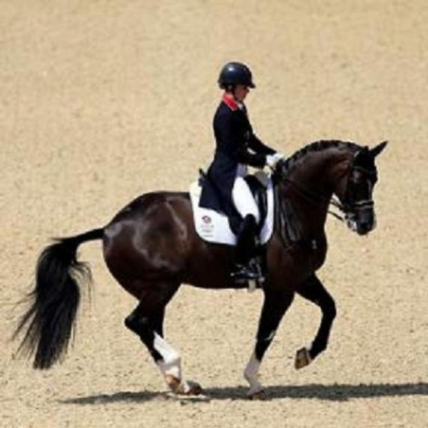 Charlotte Dujardin with Olympic horse Valegro
