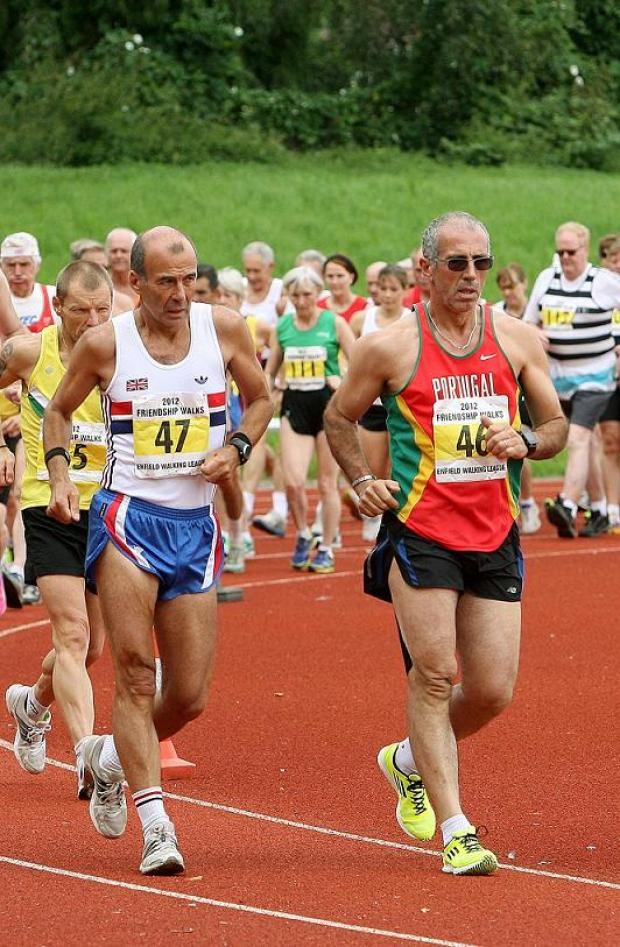 'Electric' atmosphere in Enfield's Olympic-style race walk