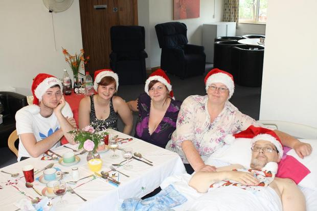 Will, Kate, Hannah, Sue and Chris during 'Christmas' on Sunday