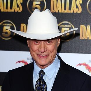 Larry Hagman arrives at the Channel 5 Dallas launch party
