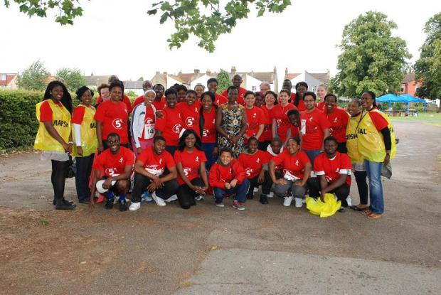 Christ Ambassadors with Cllr Anolue before the 5km run on Sunday