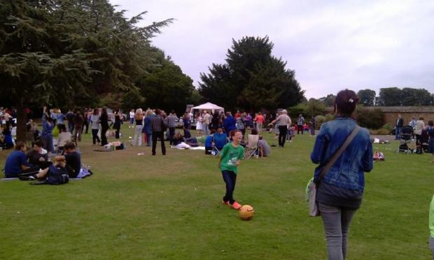 Crowds enjoying the Palmers Green Community Festival on Sunday