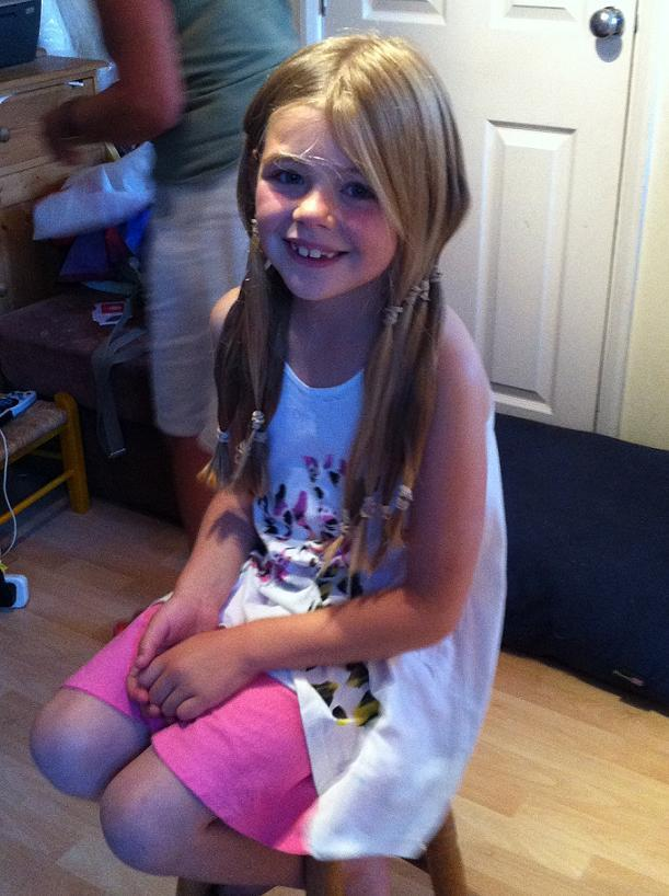 Lilia ready for her big hair cut
