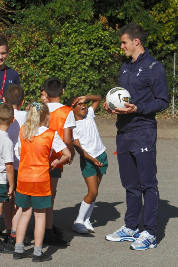 Pupils treated to PE lesson with Gareth Bale