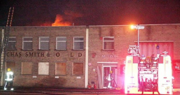 The warehouse was damaged by the fire. Photo by Paul Wood