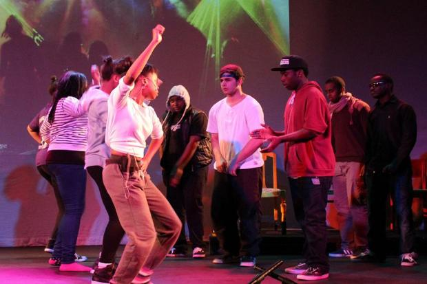 Young people performing North Side Story on Saturday