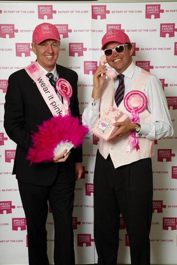 MPs Nick de Bois and David Burrowes wearing lots of pink