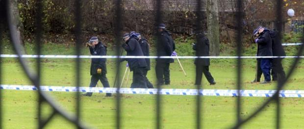 Police investigate Jubilee Park on November 24