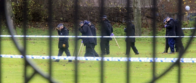 Police investigating Jubilee Park on Monday at approximately 12pm