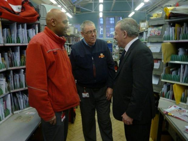 MP Andy Love meeting Royal Mail staff on Friday