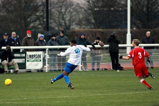 Adam Wallace grabs Enfield's second goal