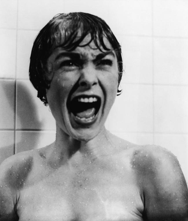 The famous shower scene from Psycho