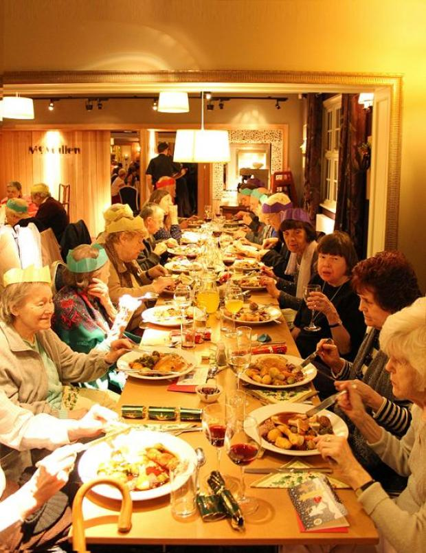 Members enjoying their annual Christmas dinner last month