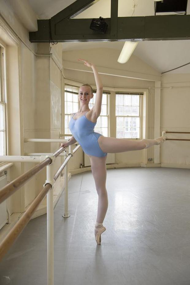 Laura Croom has finished her first term at dance school. Photo by Bill Cooper