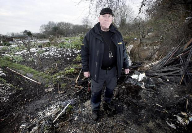 Michael Glover in the ruins of the allotments