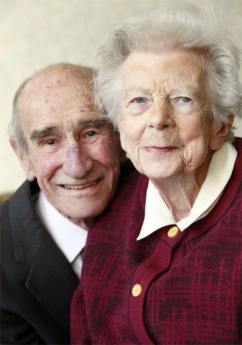 Joan and Basil Lawrence celebrated their platinum wedding anniversary yesterday