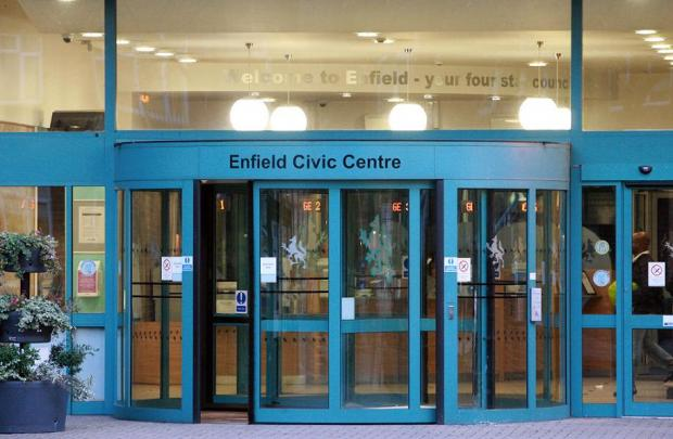 Enfield Civic Centre will be illuminated tonight
