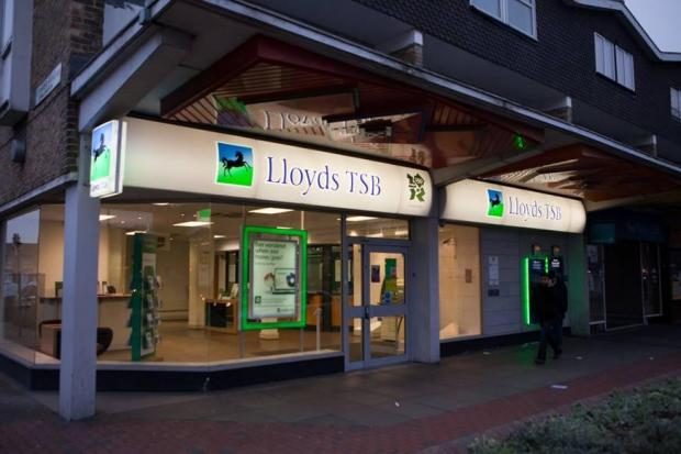 Lloyds TSB in Upper Fore Street in Edmonton will close permanently next month