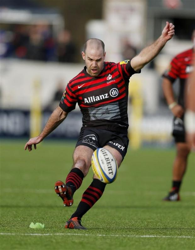 Charlie Hodgson kicked 11 points from the tee to help Saracens beat Exeter Chiefs 31-11 in their first match at Allianz Park. Picture: Action Images