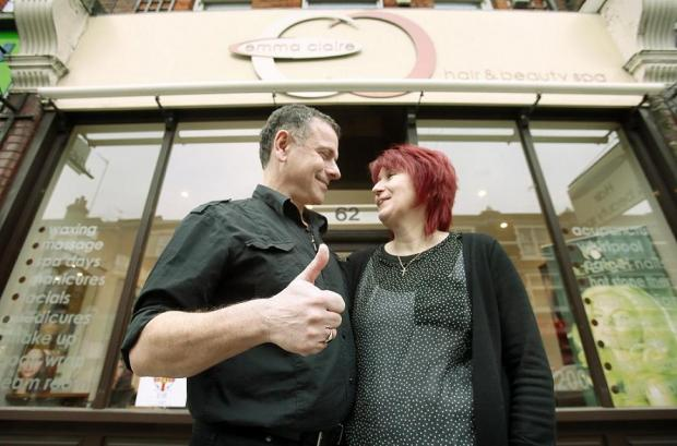Owners Chris and Trudi Theodoulou outside their successful business