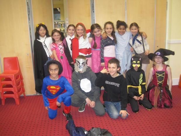 All dressed up: Year 4 students from DeBohun Primary School in Oakwood Library