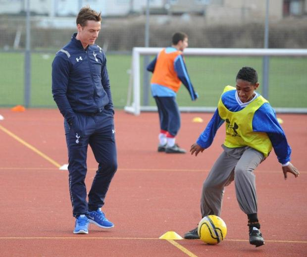 School pupils were visited by Spurs midfielder Scott Parker
