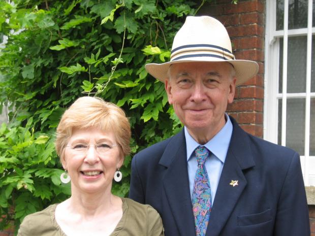 John Waller with his wife Barbara