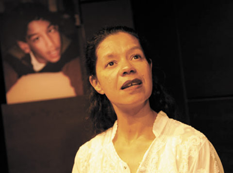 Jaye Griffiths is the solo performer in Rahila Gupta's seminal play