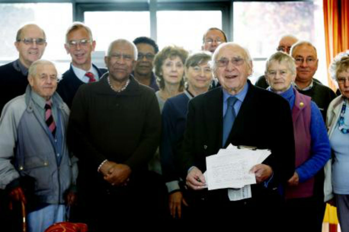 Campaigners at the Over 50s forum