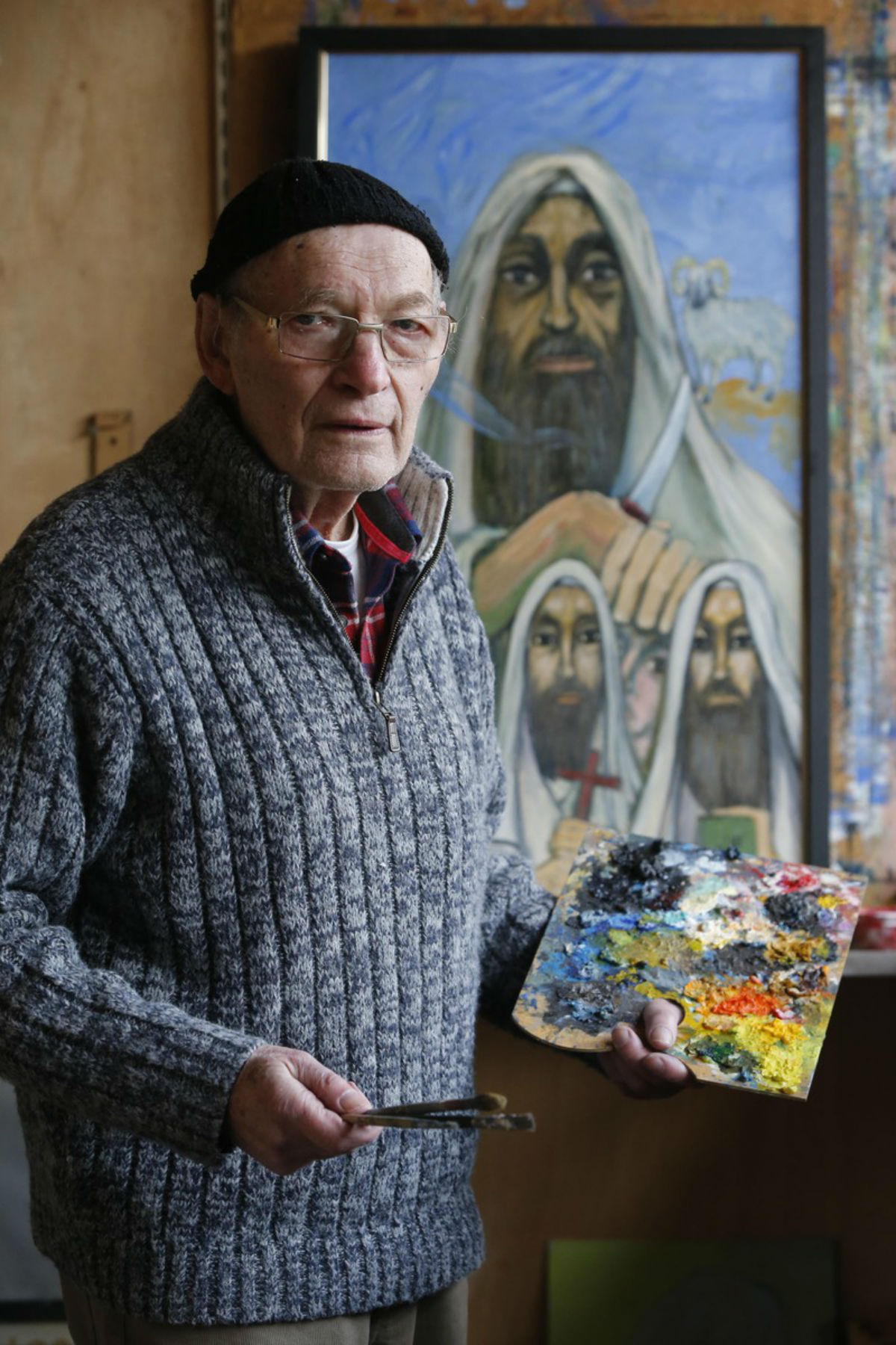 Moshe Galili, 83, survived the holocaust and has used his memories to create an art exhibition