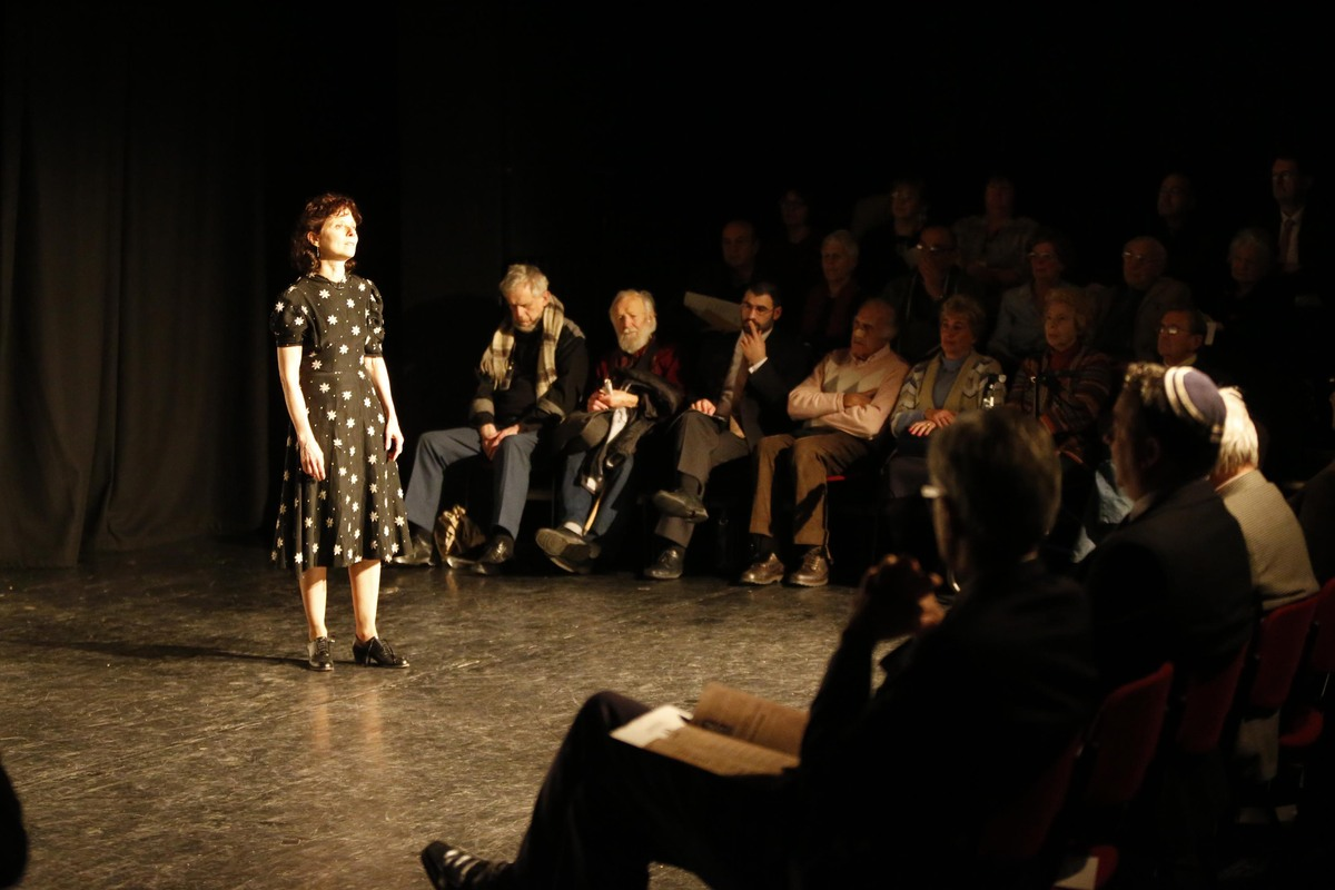Susan Stein performed her one-woman play for audiences at the Dugdale Centre