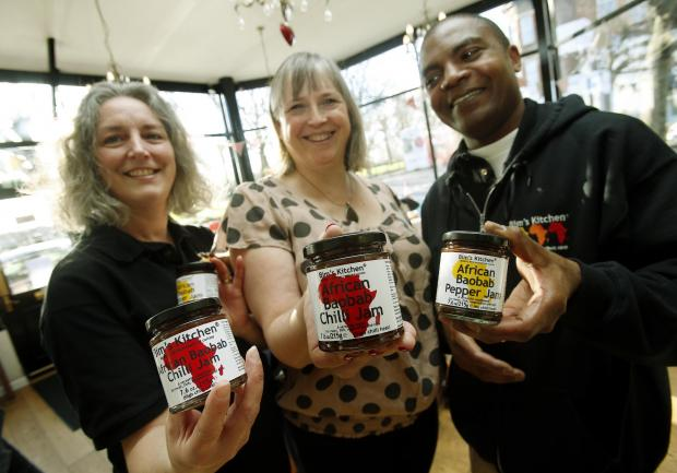 Enfield Independent: James and Nicola Adedeji at Bakersville shop in Palmers Green