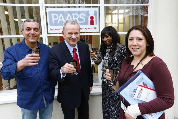 Edmonton MP Andy Love toasts the PAARS team