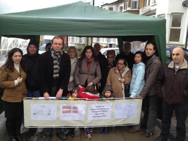 Residents joined by Enfield Southgate MP David Burrowes to reject the plans