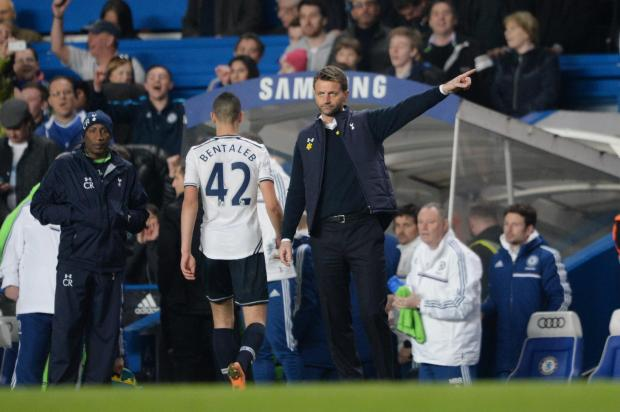 Tim Sherwood directed his players to the travelling fans after the second-half capitulation