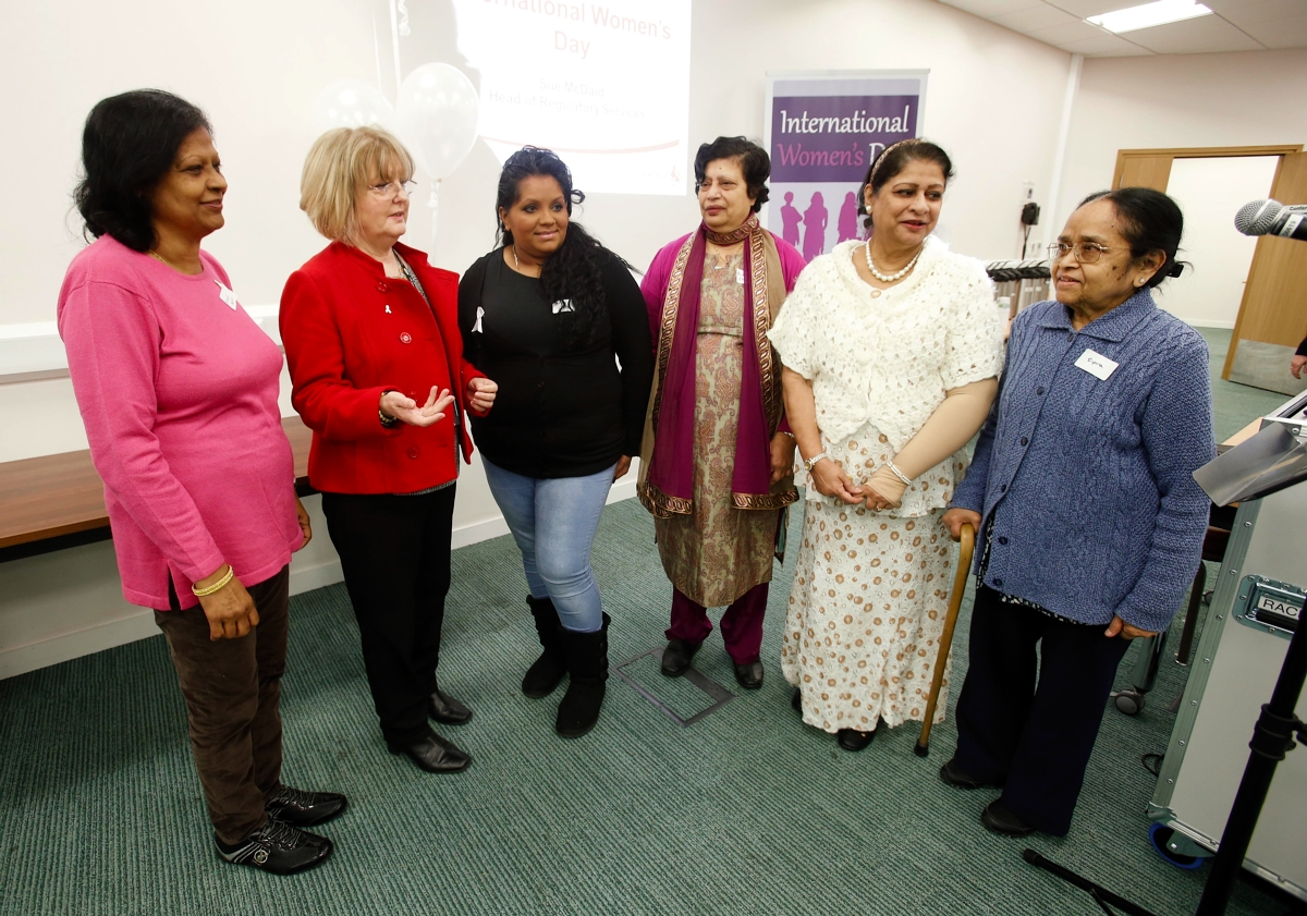 The Dugdale Centre hosted a number of events, chaired by Councillor Christine Hamilton (second left), to mark International Women's Day