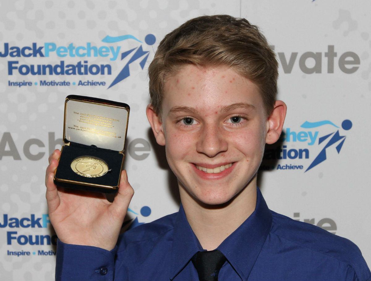 James Perkins receives his Jack Petchey Foundation