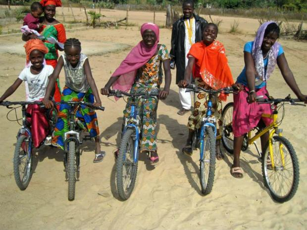 Bikes donated to The Gambia by Halfords