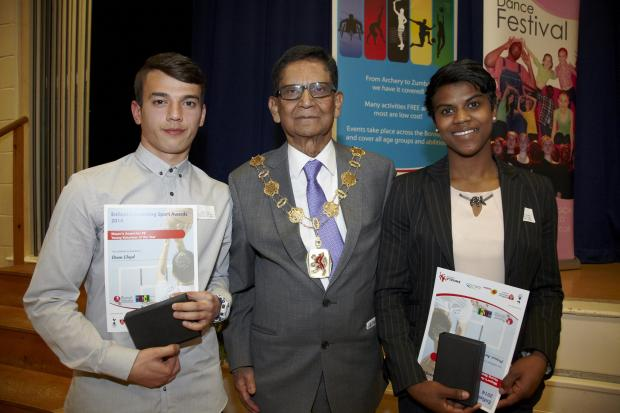The duo with Enfield Mayor Chaudhury Anwar