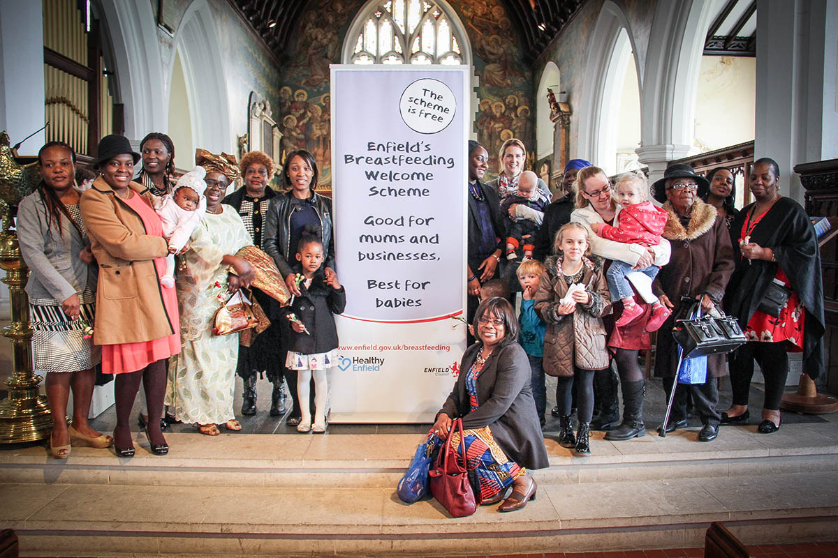 Mothers at the launch of the new scheme at All Saints church on Mothering Sunday
