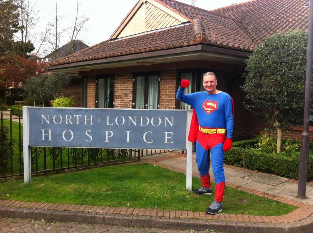 Superman John Wallace going for his 288th marathon