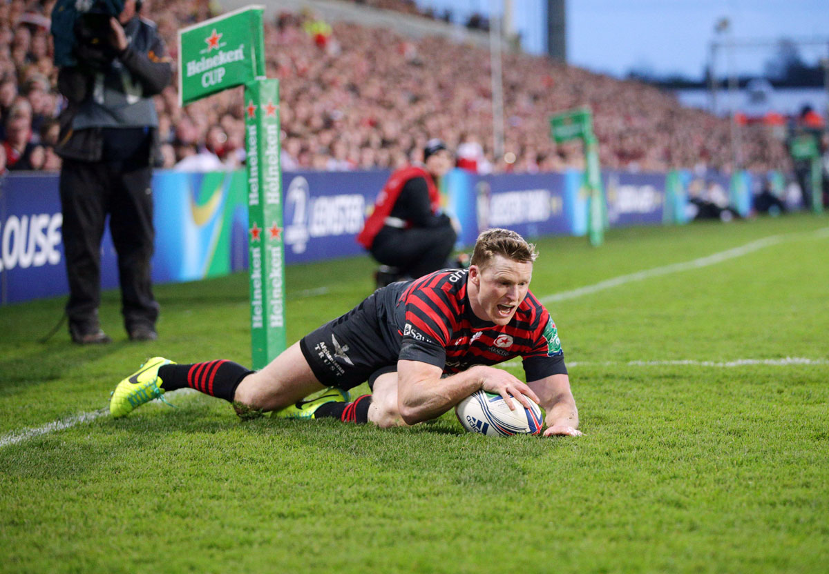 Chris Ashton touches down Saracens' third try. Picture: Action Images