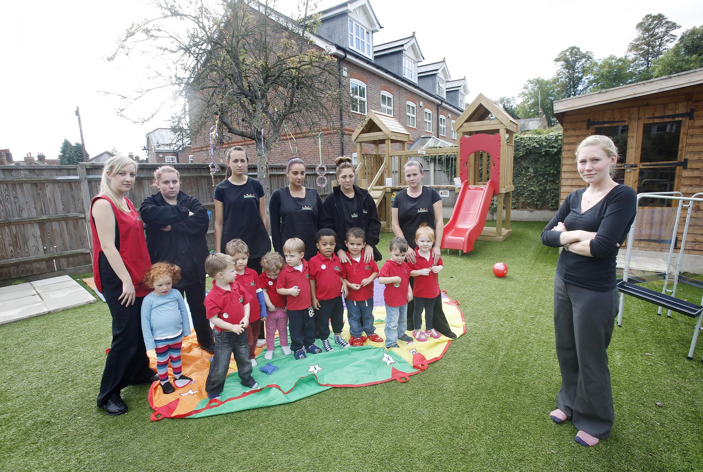 Staff and pupils at Nursery on the Green can rejoice as outdoor playtime is approved