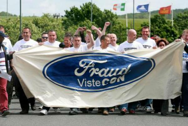 Enfield Independent: Protest in 2009 outside the former Visteon plant