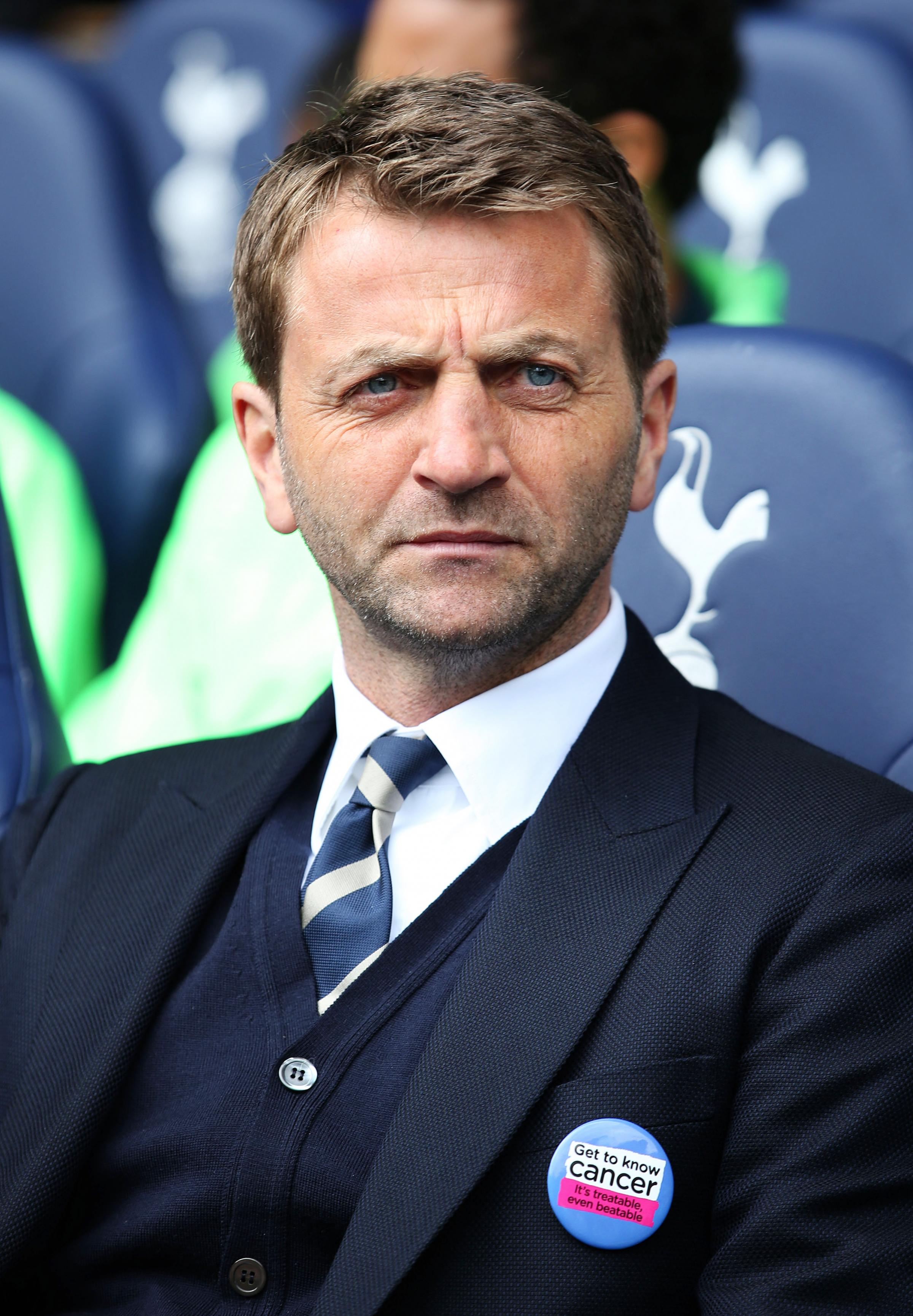 Tim Sherwood's position is under scrutiny with Frank de Boer linked with the role: Action Images