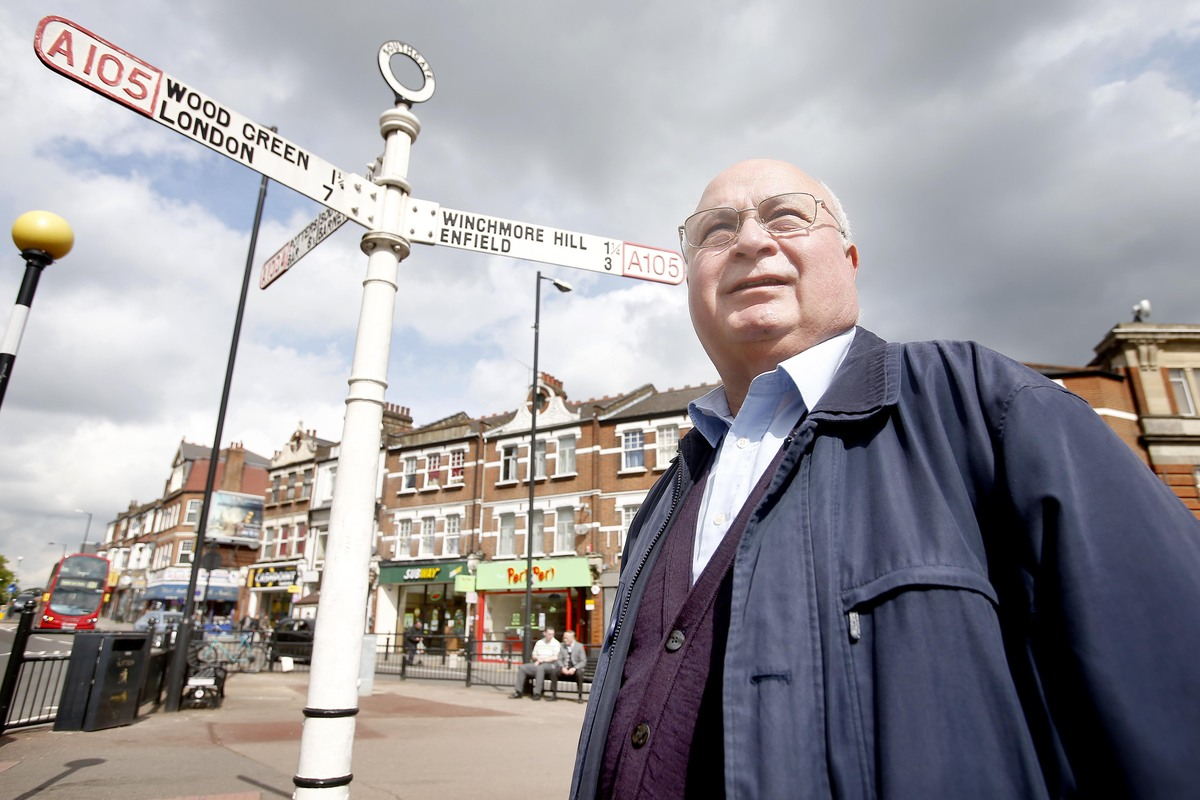 Costas Georgiou, chairman of Green Lanes Business Association is delighted at agreement of a new clock tower