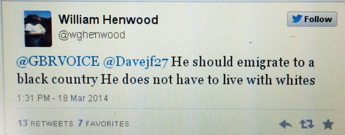 William Henwood tweeted about Lenny Henry