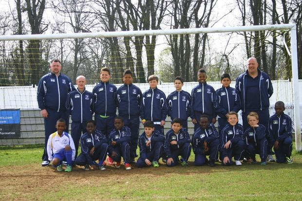 Enfield Town Under-11s reached the Cheshunt Cup final