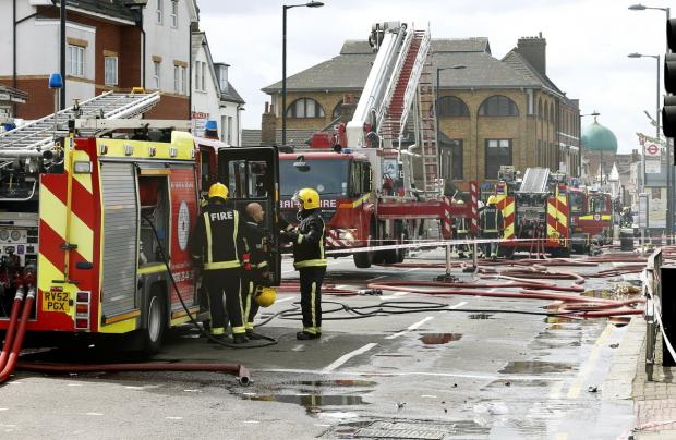 Enfield Independent: The fire destroyed a restaurant and an estate agent leading the road being closed
