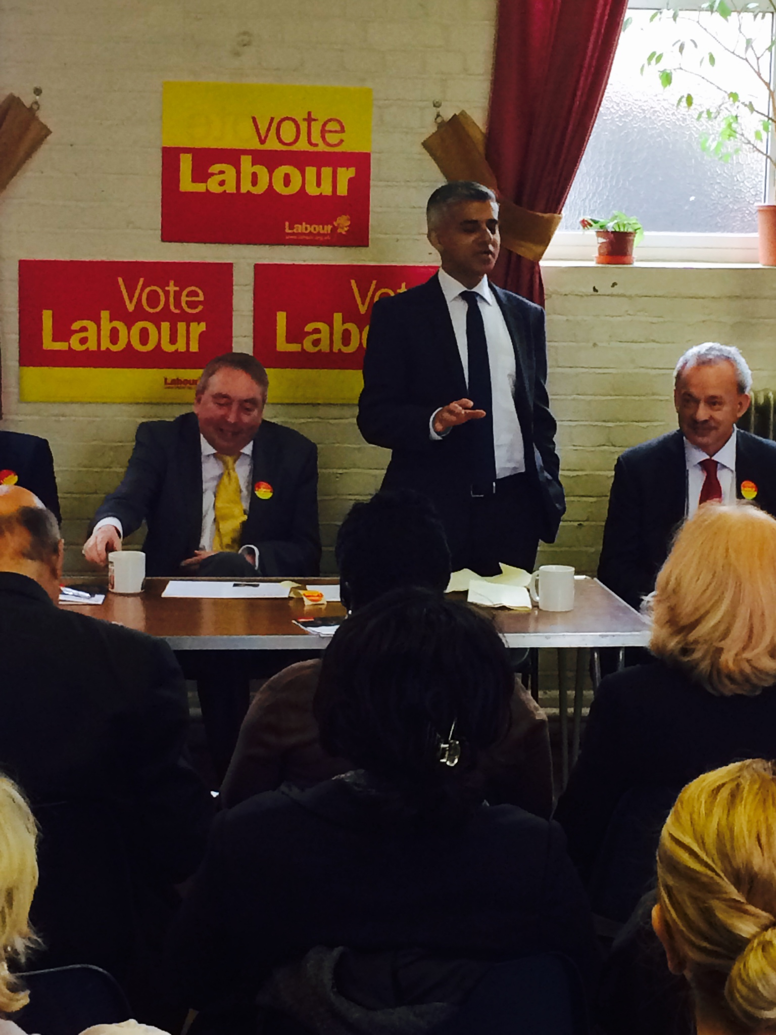 Sadiq Khan MP, shadow minister for London at the launch of Labour Enfield's manifesto